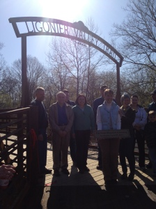 "The bridge was christened ""The Rose Stepnick Crossing"" in honor of the project leader.  ""This bridge would not be here with Rose Stepnick,"" said Tim Komar."