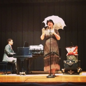 Cece Otto and pianist Aaron Gray on stage at Ligonier Town Hall.